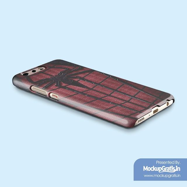 PSD Mockup Gratis Custom Case HUAWEI P10 Plus
