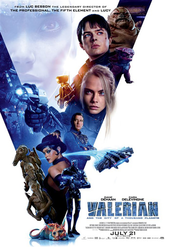 Valerian and the City of a Thousand Planets 2017 Dual Audio ORG Hindi 450MB BluRay 480p poster