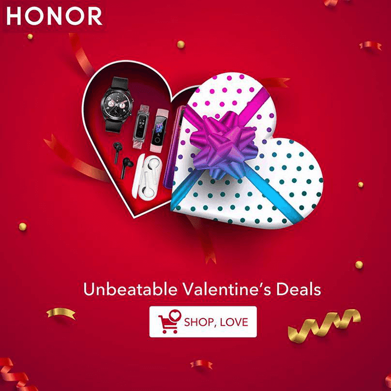 HONOR announces Four-Day Valentine's Sale on Shopee and Lazada