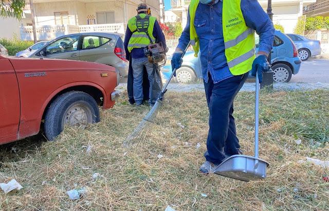 Εργασίες καθαριότητας στην πόλη του Ναυπλίου