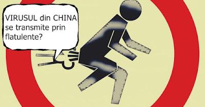 virusul din china se poate transmite prin flatulente