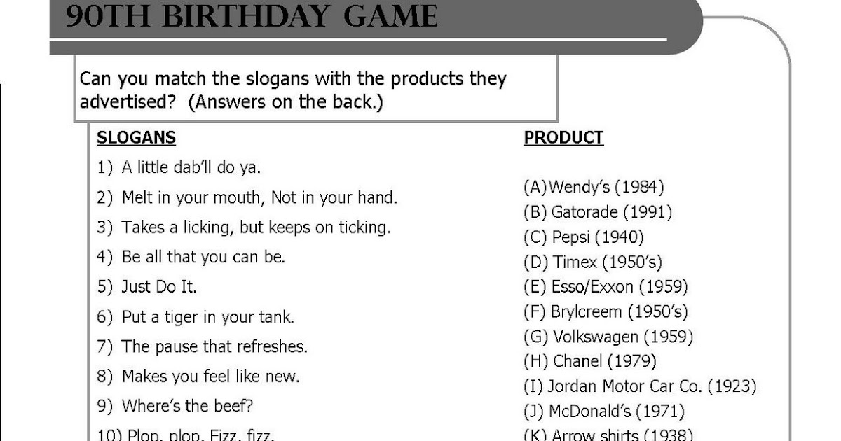 Body Shop Home Game Ideas