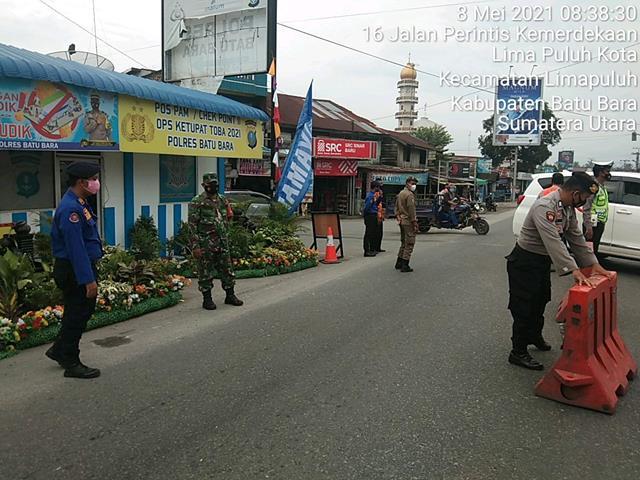 Pos Pam Ketupat Diwilayah Lima Puluh Personel Jajaran Kodim 0208/Asahan Turun Bergabung Dengan Dinas Terkait