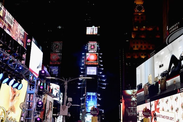 Times Square is brilliant on New Year's Eve