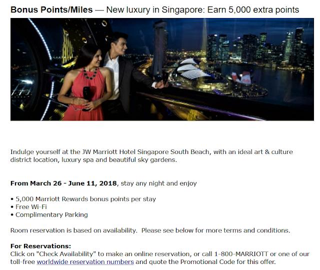 入住新加坡南岸JW萬豪酒店(JW Marriott Hotel Singapore South Beach),享5,000萬豪禮賞積分獎勵