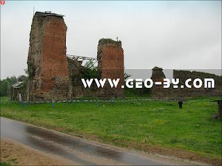 Кревский замок и лошадь