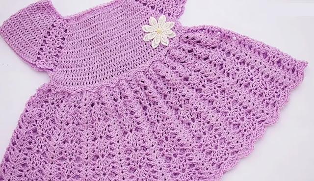Canesú de Vestido a Crochet para bebé