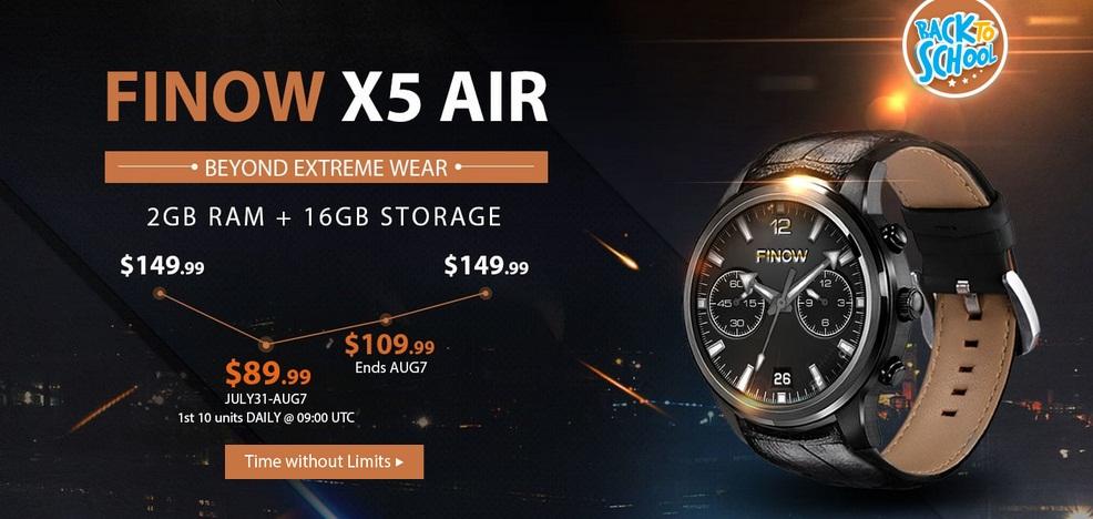 تخفيض رائع على الساعة الذكية FINOW X5 AIR