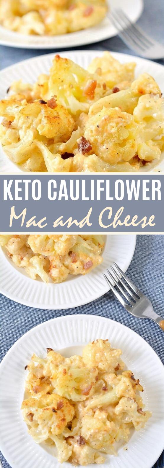 Keto Cauliflower Mac and Cheese #healthy #dinner #lowcarb #diet #vegetarian