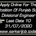 Apply Online For The Position Of Punjab Sub Divisional Engineer