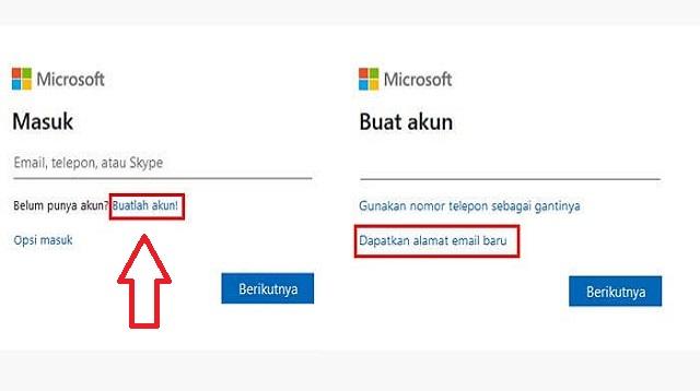 Cara Membuat Akun Microsoft dengan Email