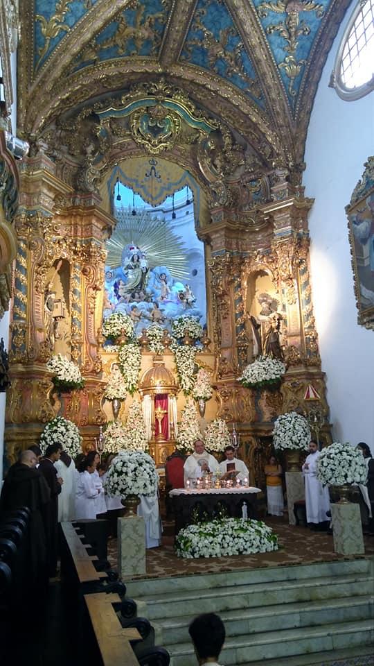 Horários das Missas na Festa de Nossa Senhora do Carmo, em Recife