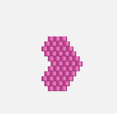 Brick Stitch Beaded Heart Pattern by Lisa Yang Jewelry