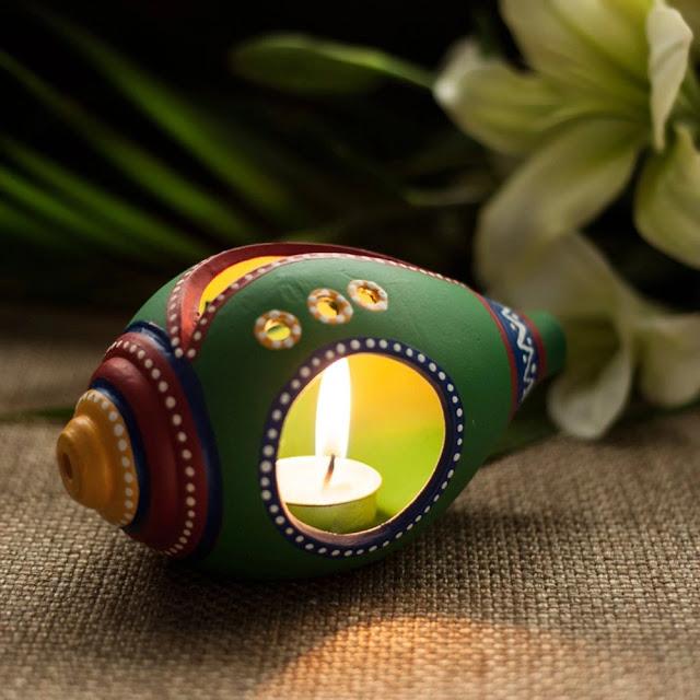 Stylish Handcrafted Branched Diya Stand diwali gift