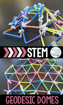 STEM Challenge: Create a geodesic dome using only two materials. Great fun!