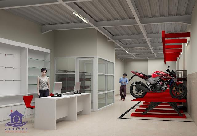 Desain Eksterior Dealer Honda Gentan di Sukoharjo