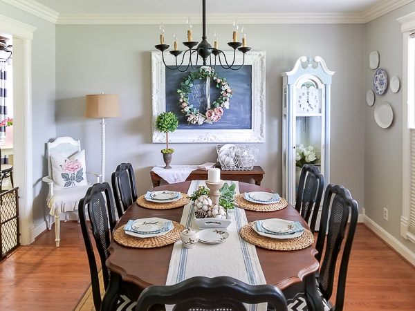 dining room filled with chalk painted furniture