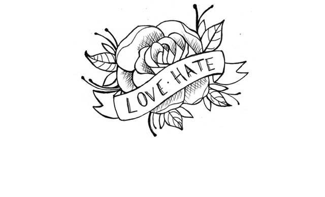 dibujo facil tatuaje rosa
