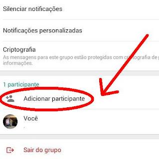 Como adicionar um contato no grupo