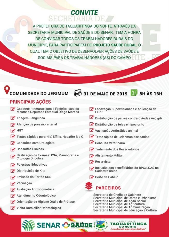 Projeto Saúde Rural oferta vários serviços no Sítio Jerimum, em Taquaritinga do Norte