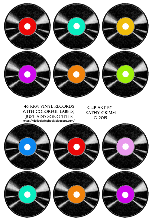 photograph relating to Printable Vinyl Record Labels titled Vinyl Clip Artwork Information for Doll Crafts The Doll Coloring E-book