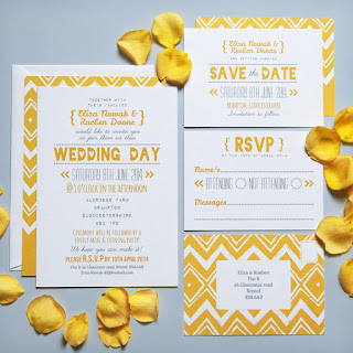 Sunny Typography Wedding Stationery