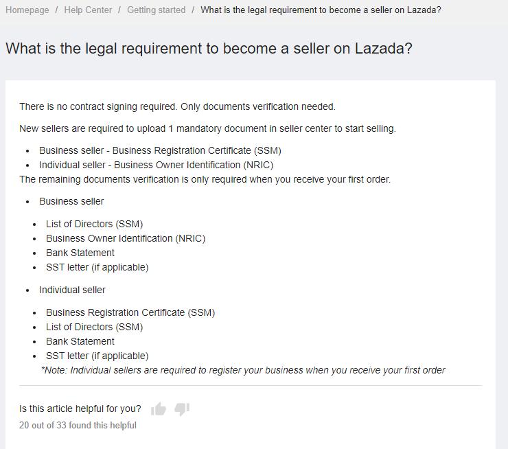 Cara Daftar dan Berniaga di Lazada
