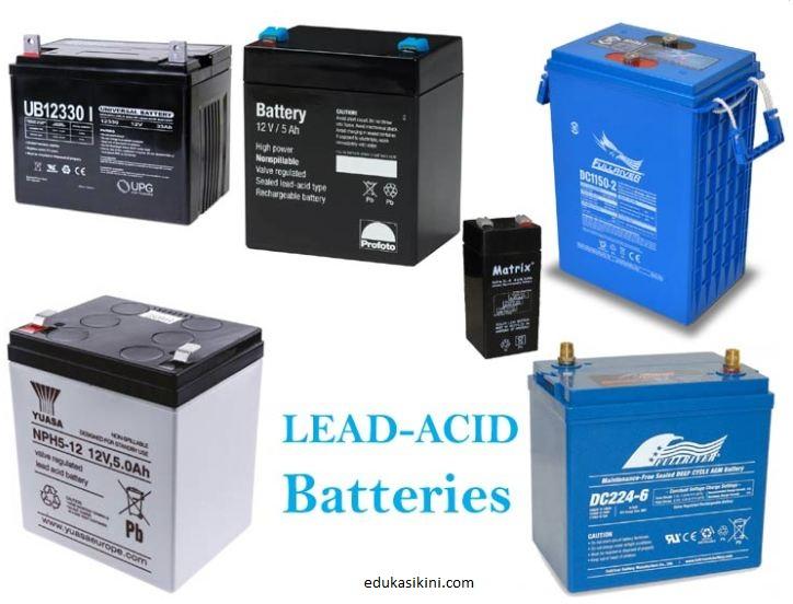 Baterai Asam Timbal Cara Kerja, Konstruksi, dan Pengisian/Pengosongan