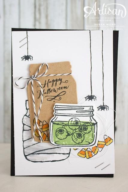 Jar of Haunts Halloween Card ~ Susan Wong