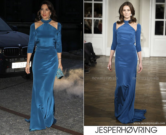 Crown Princess Mary wore a Jesper Høvring Dress from Fall Winter 2016-2017 collection