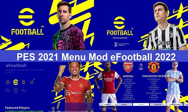 eFootball 2022 GRAPHIC MENU FOR PES 2021