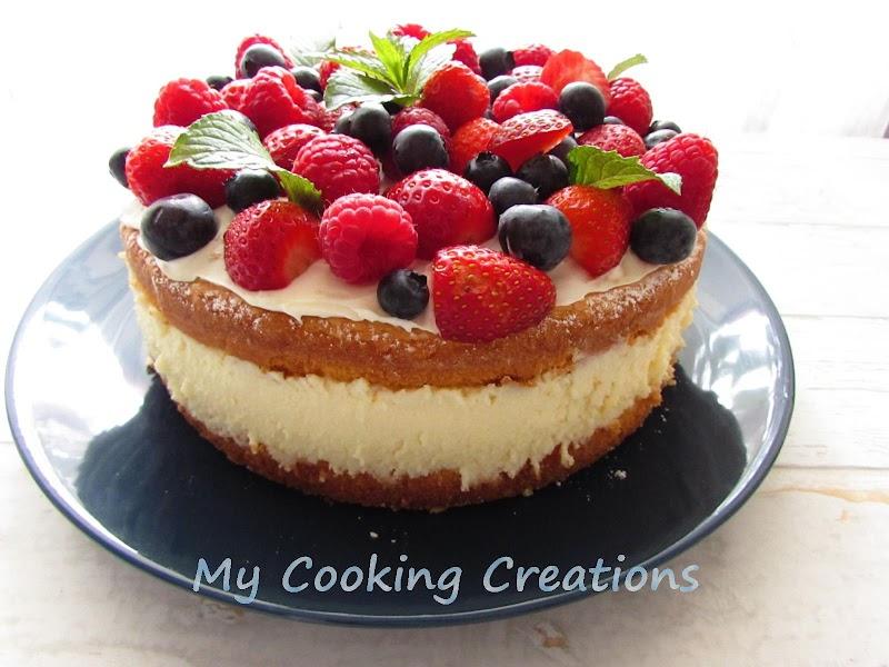 Торта Рай с млечен крем и горски плодове * Torta Paradiso con crema al latte e frutti di bosco