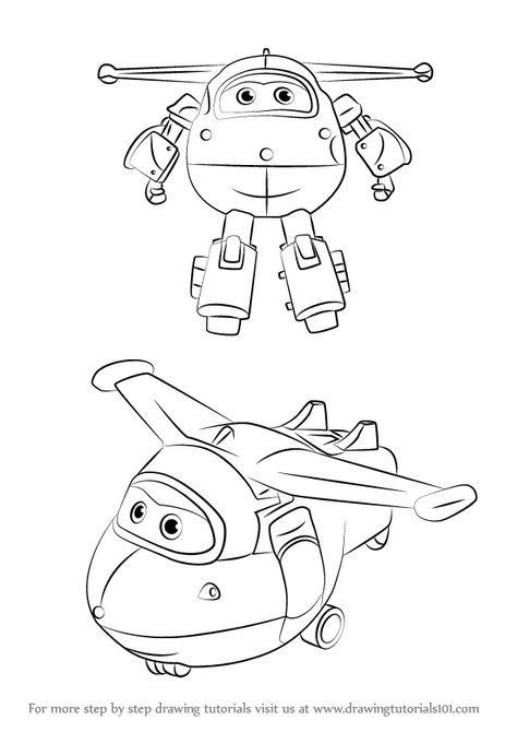 Super wings smart coloring pages 4