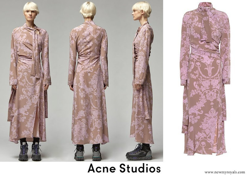 Crown Princess Victoria wore ACNE STUDIOS Danouck Floral Print Dress