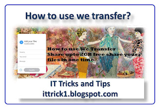 How to use we transfer