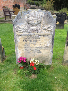 Anne Brontë's grave in the churchyard of St Mary's Church in Scarborough