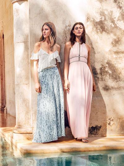 vestidos largos fiesta H&M verano