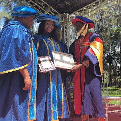 #BBNaija star Anto Lecky bags honorary doctorate degree from Iscom University Benin