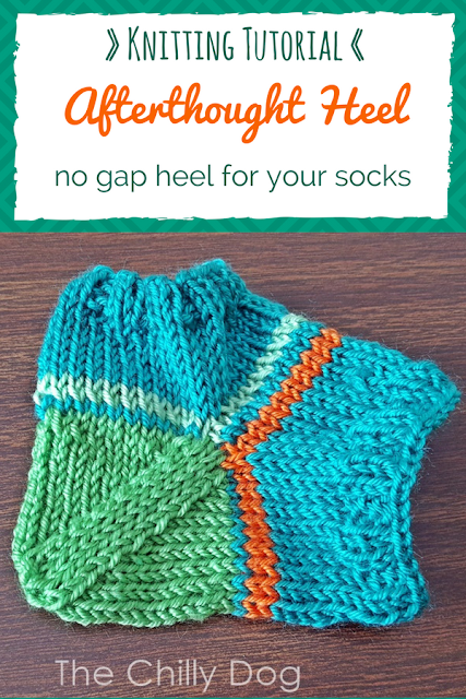 How to avoid unsightly gaps when knitting an afterthought sock heel.