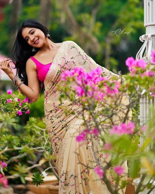 Actress Sakshi Agarwal Recent Hot Saree Pictures Actress Trend