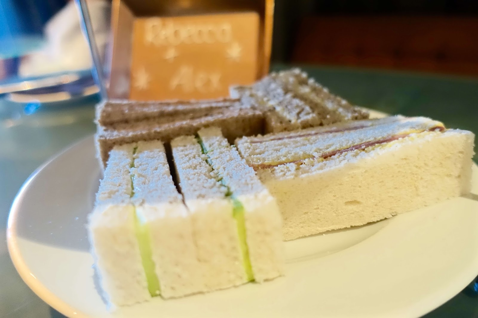 sandwiches at afternoon tea at brooklands hotel and spa