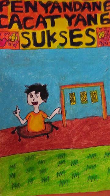 Berkreasi Membuat Cover Buku dari Cerita Penyandang Cacat yang Sukses