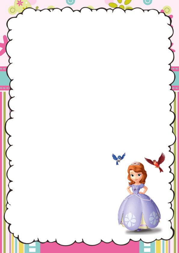 Hermosa caratula para cuaderno de princesita sofia