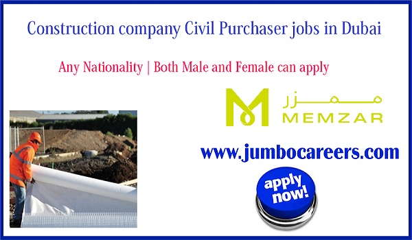 civil purchase officer jobs in Dubai for Indians, Current jobs in Dubai,