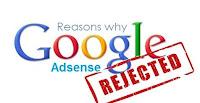 Permohonan google adsense gagal, Google Adsense gagal, Google Adsense ditolak