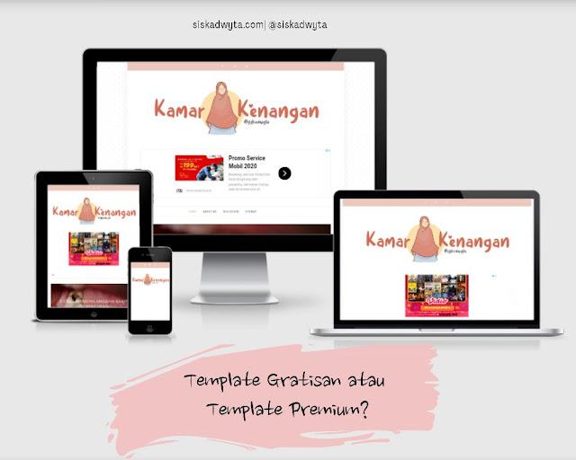 Template gratisan atau template premium