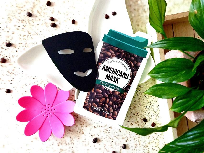 zdjęcie maski w płachcie Hiddencos Americano Mask