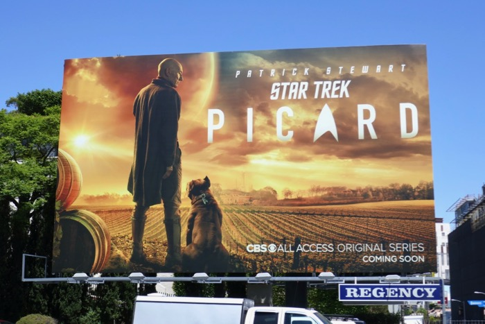 Star Trek Picard series premiere billboard