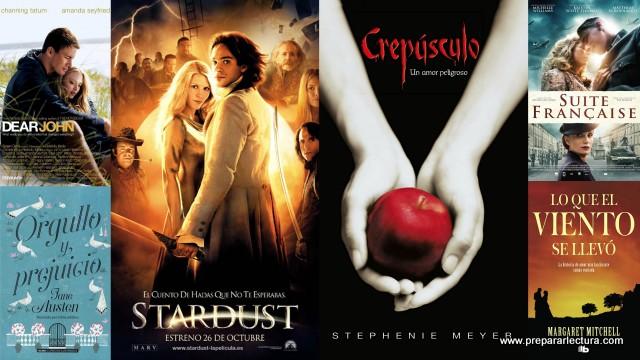 películas románticas basadas en libros