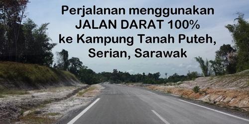 video jalan raya baru kampung tanah puteh, serian, sarawak siap 2016, jalan darat menghubungkan pekan serian ke kampung tanah puteh (katapu)